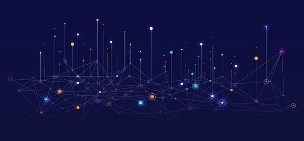 Big data visuele informatie achtergrond sociaal netwerk concept verbinding vector background