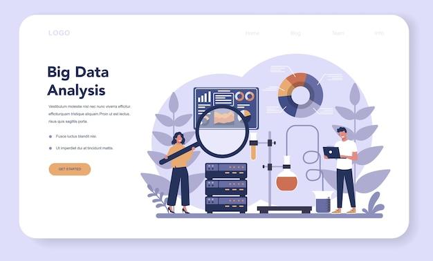 Big data webbanner of bestemmingspagina