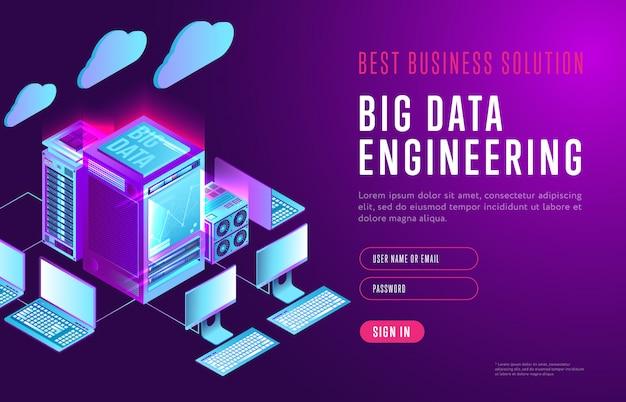 Big data webpagina sjabloon