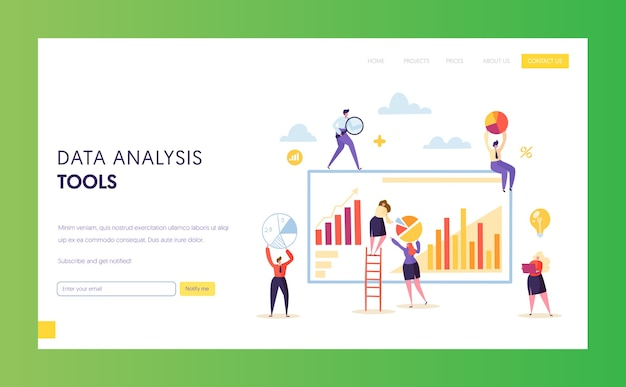 Big digital marketing data analysis chart landingspagina