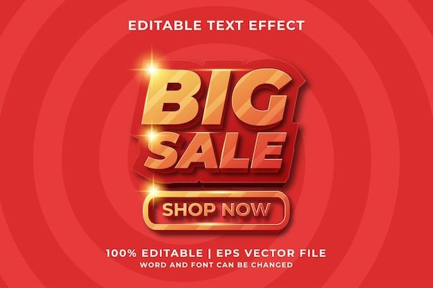 Big sale 3d bewerkbaar teksteffect premium vector