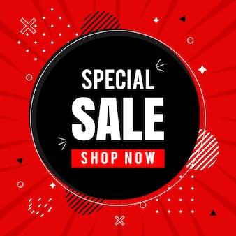 Big sale winkel nu social media post desig post