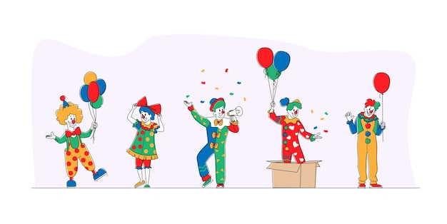 Big top circus clowns illustratie