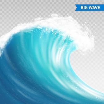 Big wave-illustratie Gratis Vector