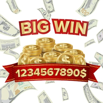 Big win banner voor online casino