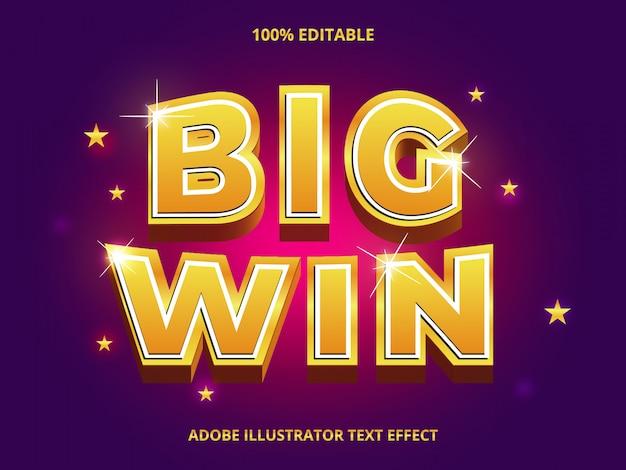 Big win tekststijl