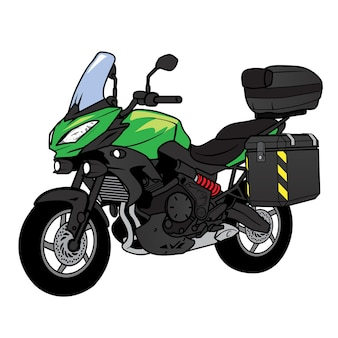 Bigbike touring motorfiets cartoon