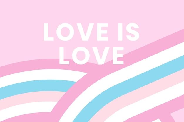 Bigender vlag banner sjabloon vector met liefde is liefde tekst