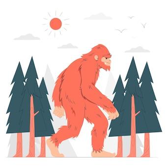 Bigfoot concept illustratie