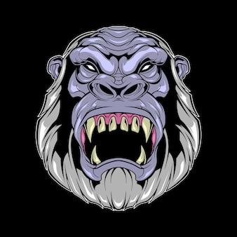 Bigfoot hoofd illustratie