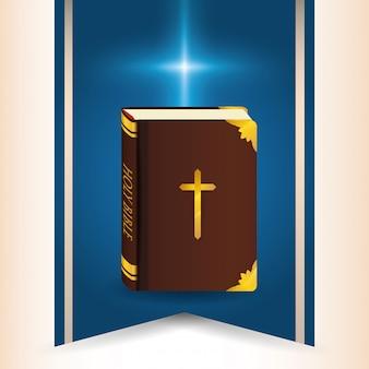 Bijbel pictogram ontwerp
