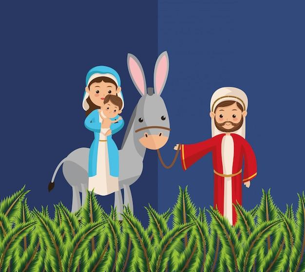Bijbelse kerstmis gerelateerde pictogrammen afbeelding