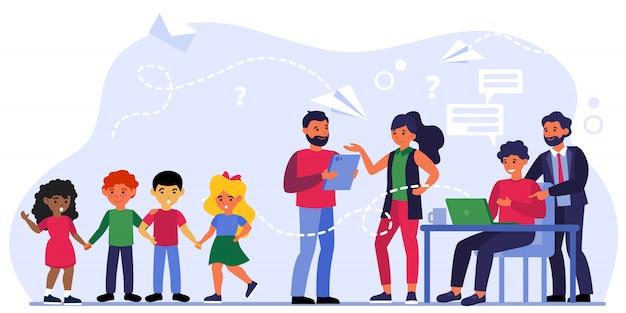 Bijeenkomst leraar-ouder