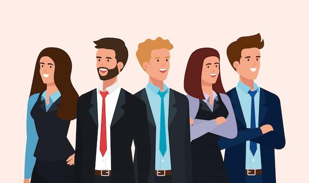 Bijeenkomst van mensen uit het bedrijfsleven avatar karakter