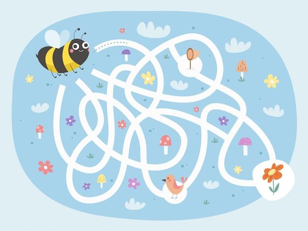 Bijen doolhofspel