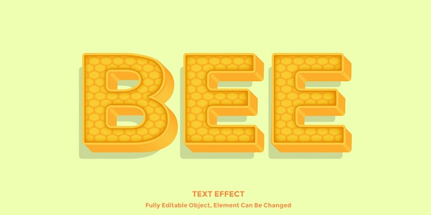 Bijen honing teksteffect