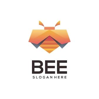 Bijen logo sjabloon
