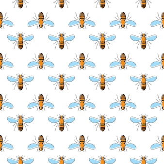 Bijen vector naadloos patroon