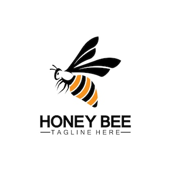 Bijenhoning logo vector pictogram symbool illustratie ontwerpsjabloon