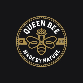 Bijenkoningin luxe logo