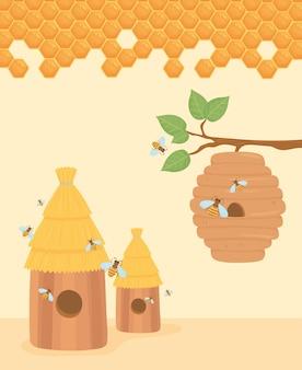 Bijenkorf bijenstal