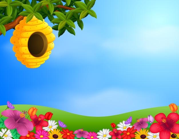 Bijenkorf in de tuin
