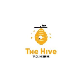 Bijenkorf logo ontwerp, bijenkorf goud