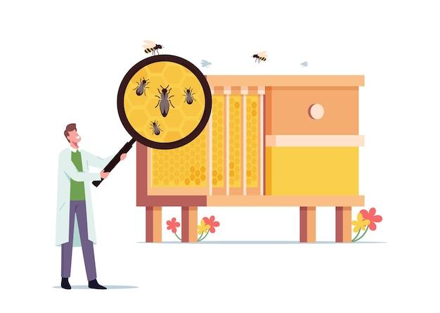 Bijenstal, biologie wetenschapsconcept