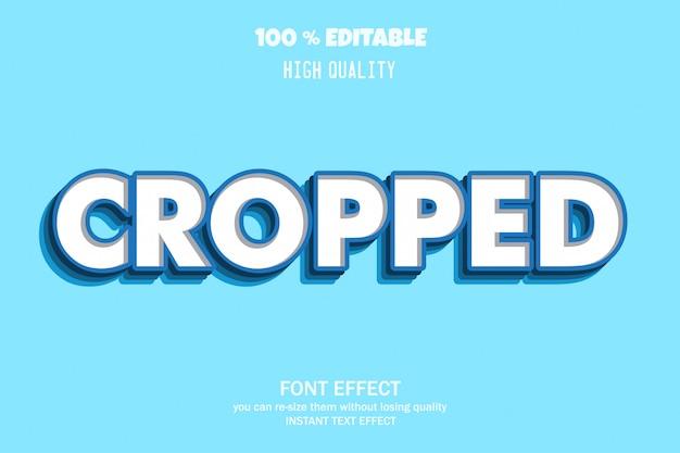 Bijgesneden tekst, bewerkbaar lettertype-effect