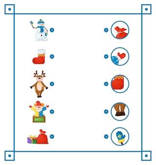 Bijpassende game voor educatief spel voor kinderen.