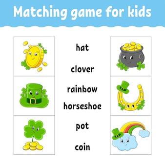 Bijpassende game voor kinderen. vind het juiste antwoord.