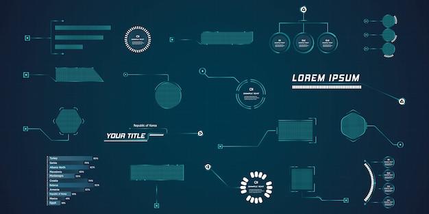 Bijschrift hud voor leider in futuristische stijl. moderne digitale sjablonen toepasbaar voor framelay-out. informatieoproepen en pijlen. de interface van de elementen van de afbeeldingenset.