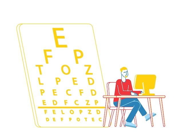 Bijziendheid en ogen ziekte concept