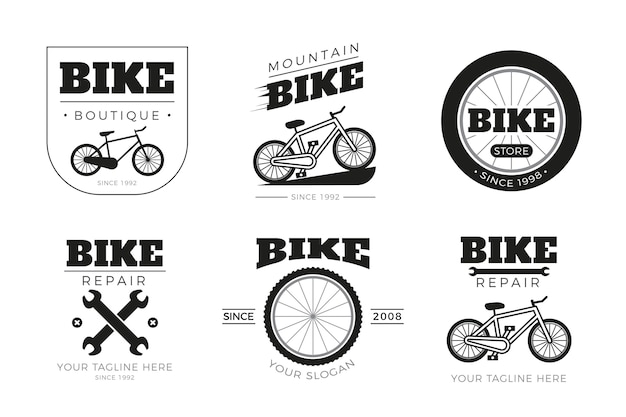 Bike logo collectie Premium Vector