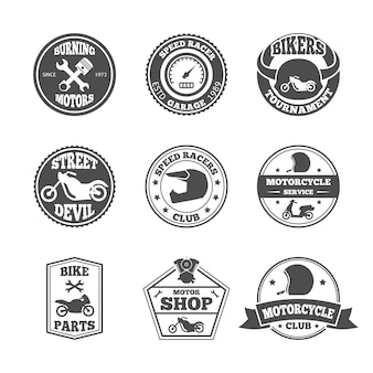 Biker badge set