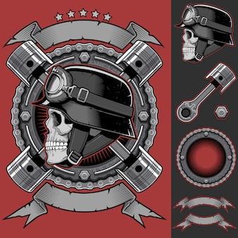 Biker club-patch