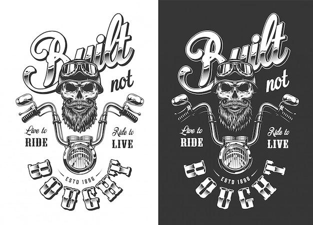 Biker embleem met schedel