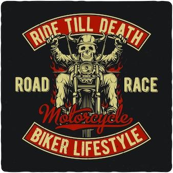 Biker op motorfiets