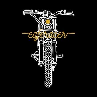 Biker rider motorfiets lijn grafische illustratie art t-shirt design