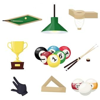 Biljart apparatuur hobby sport entertainment gokspeler gereedschap
