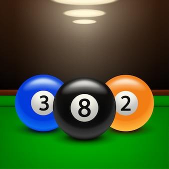 Biljart banner drie ballen