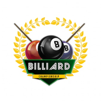 Biljart pool en snooker sport pictogram