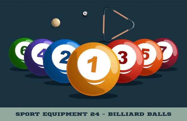 Biljartballen pictogram