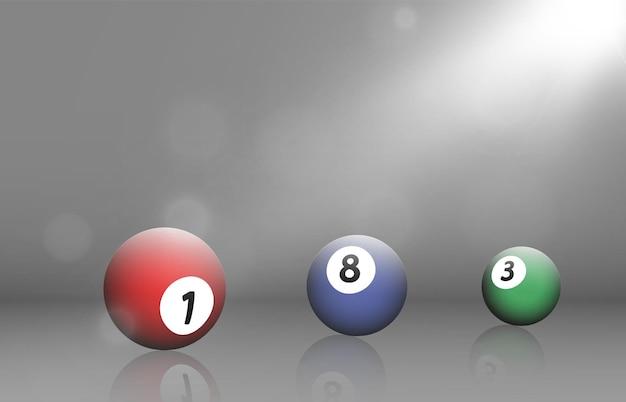 Biljartballen vector