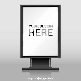 Billboard met glas textuur vector