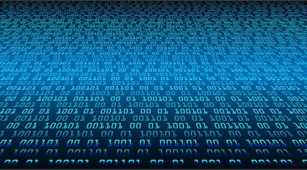 Binaire cyber kring toekomstige technologie concept achtergrond