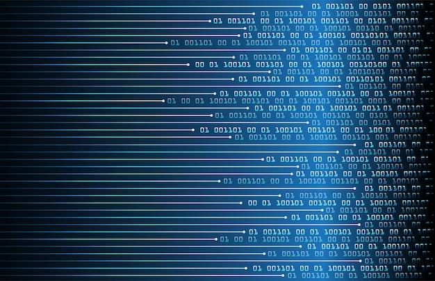 Binaire printplaat toekomstige technologie, blauwe cyber security concept achtergrond