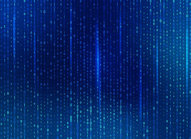Binaire programmeercode, concept van cyberspace