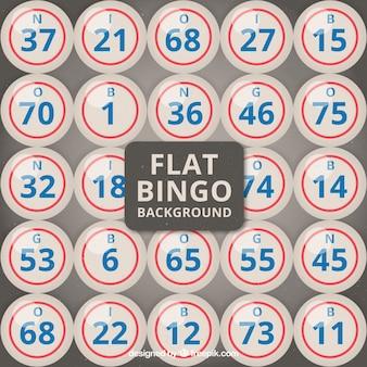 Bingo achtergrond in plat ontwerp