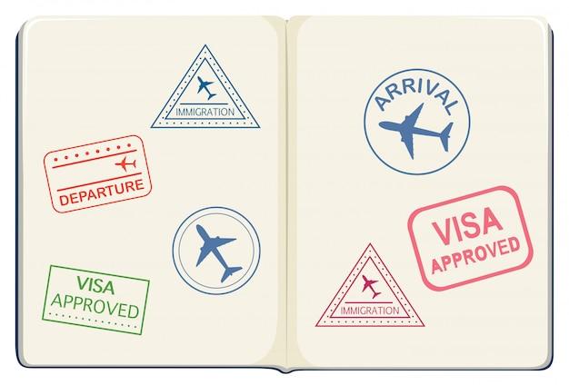 Binnenkant van een paspoort